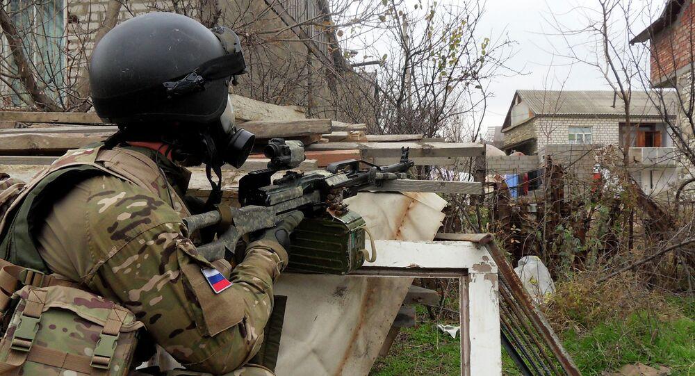 Forze speciali russe antiterrorismo in Daghestan (foto d'archivio)