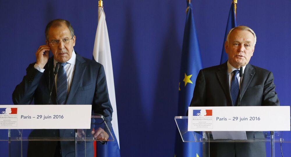 Sergey Lavrov e Jean-Marc Ayrault