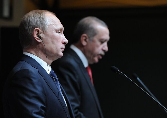 December 1, 2014. Russian President Vladimir Putin, left, and President of Turkey Recep Tayyip Erdogan at the concluding news conference in Ankara