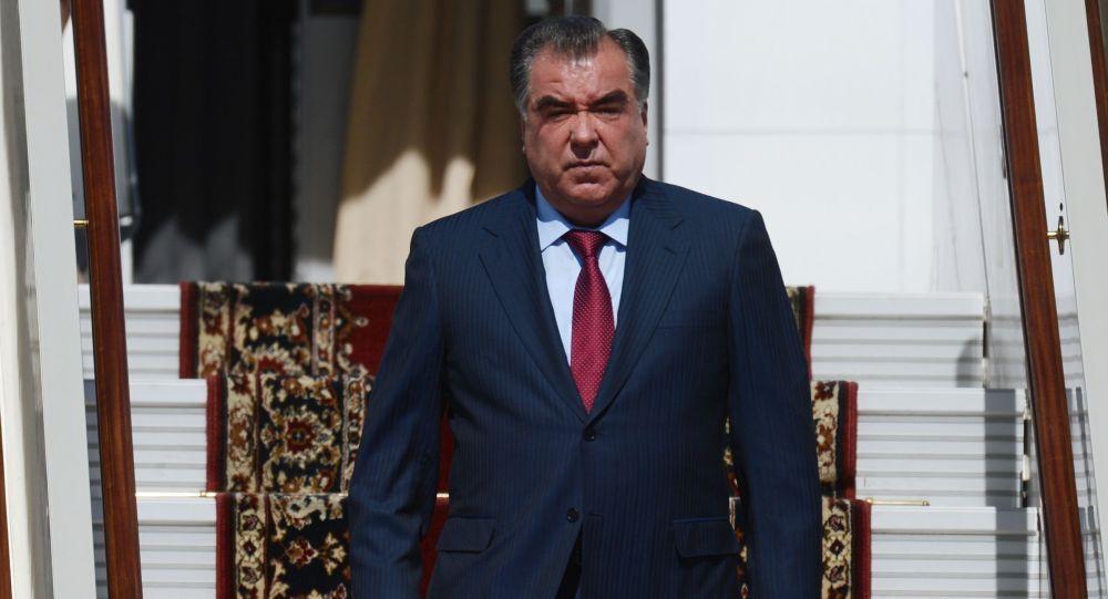 Presidente tagiko Emomali Rakhmon