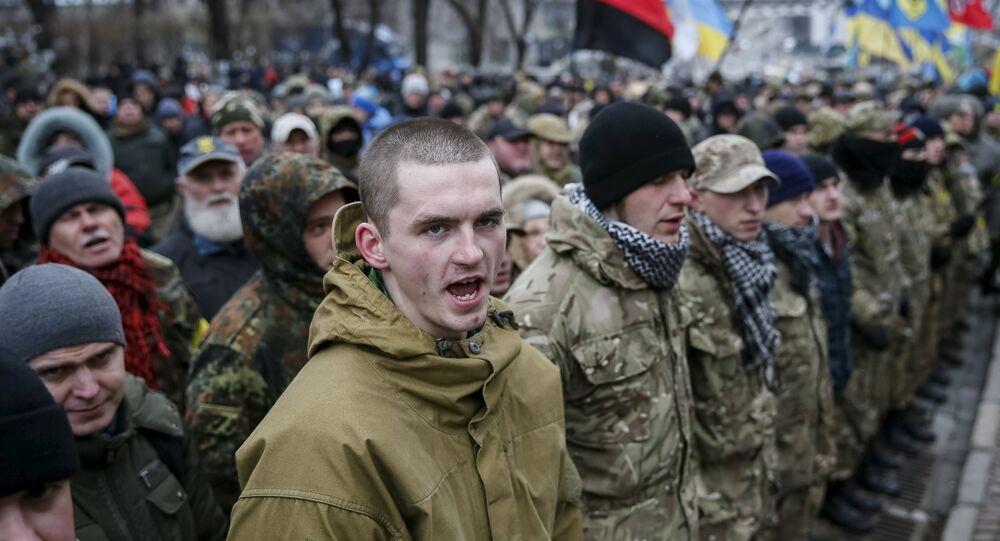 Manifestazione di ultranazionalisti ucraini a Kiev
