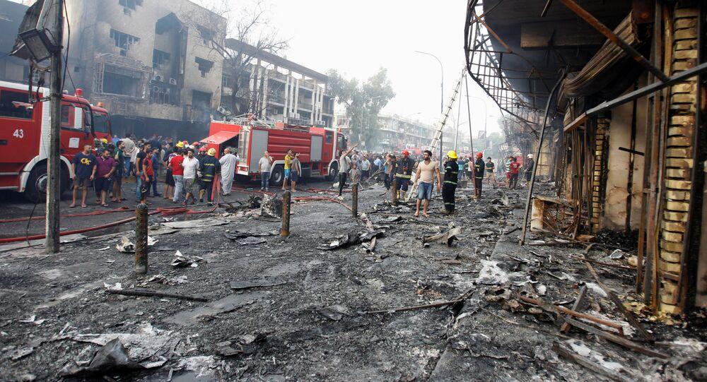 Baghdad dopo gli attentati esplosivi del Daesh