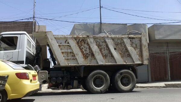 Camion con le antenne satellitari, Mosul, Iraq - Sputnik Italia