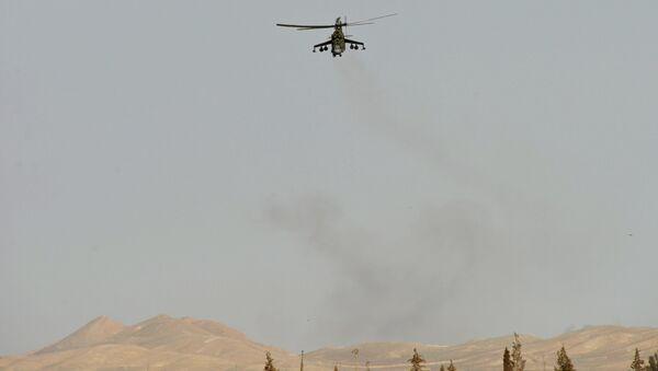 Elicottero Mi-24 nei pressi di Palmira - Sputnik Italia