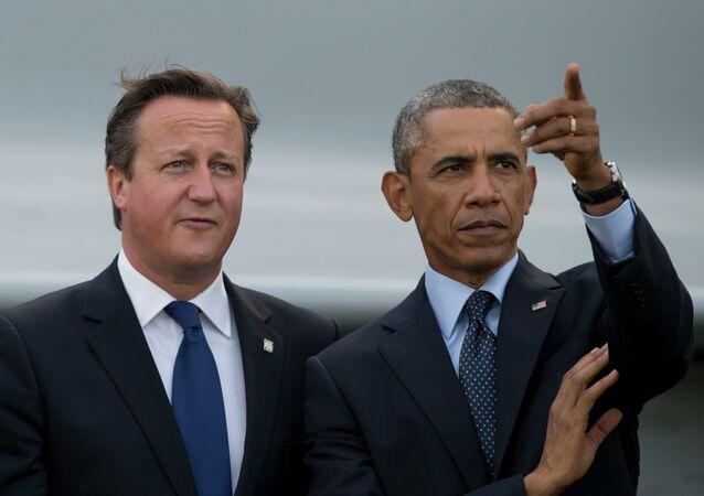 David Cameron e Barack Obama (foto d'archivio)