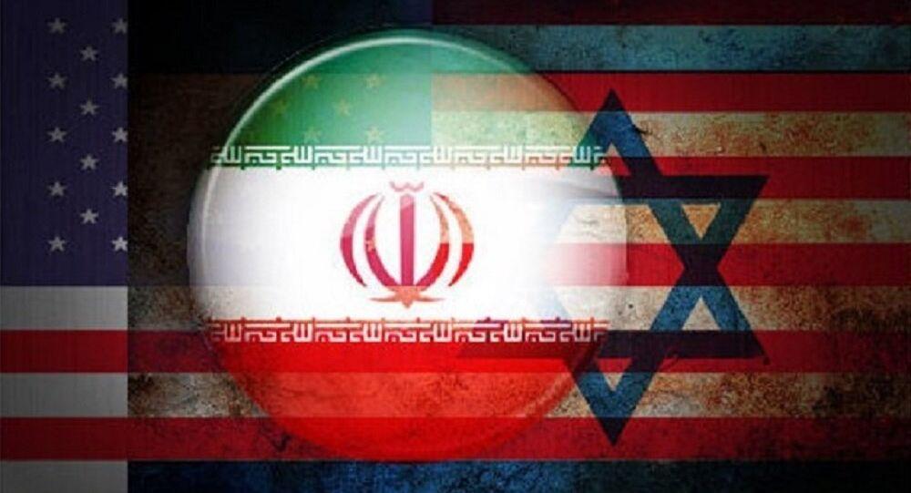 Collage con bandiere di USA-Israele-Iran
