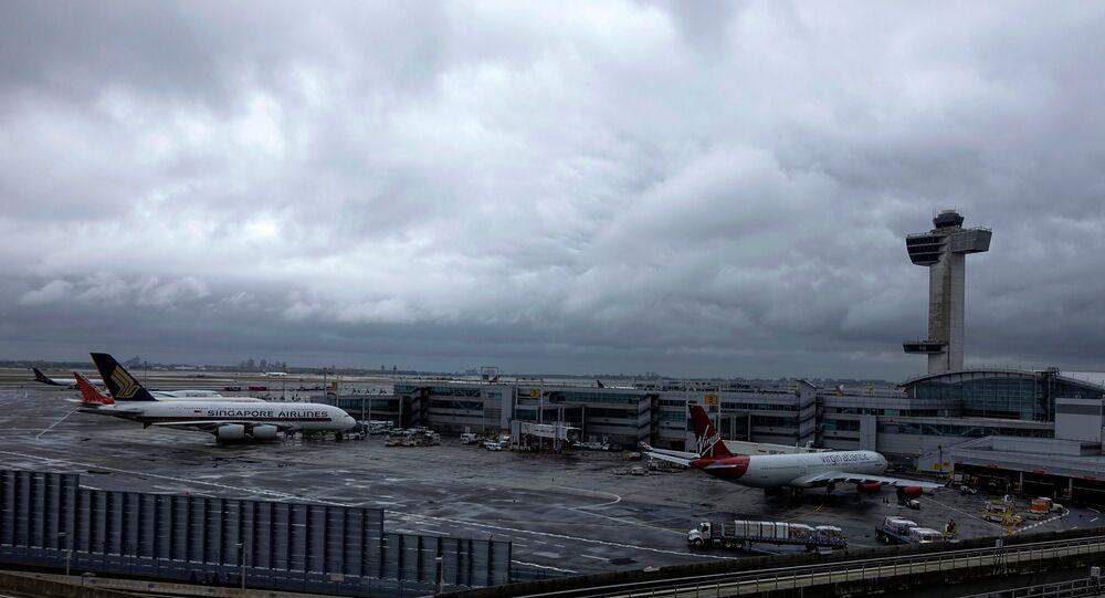 Una vista dell'aeroporto JFK a New York