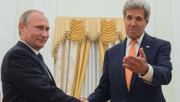 Incontro tra Putin e Kerry a Mosca - Sputnik Italia