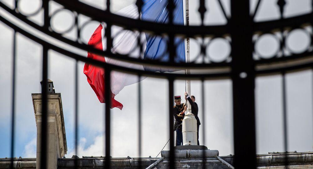 La bandiera della Francia