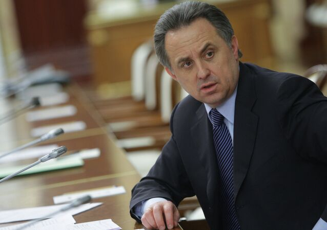 Il ministro dello sport russo Vitaly Mutko