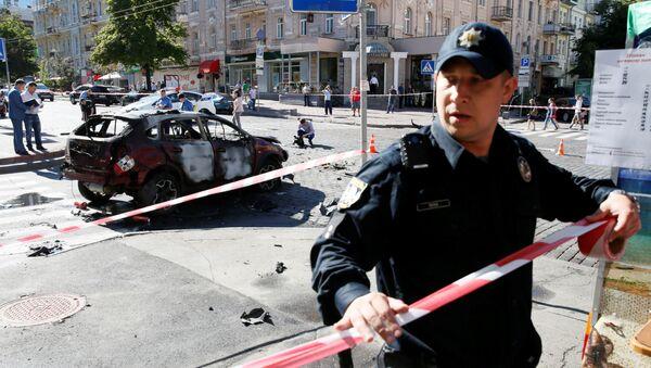 Luogo dell'attentato mortale contro il giornalista Pavel Sheremet a Kiev - Sputnik Italia