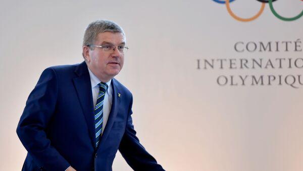 Президент Международного олимпийского комитета Томас Бах во время Олимпийского саммита в Лозанне - Sputnik Italia