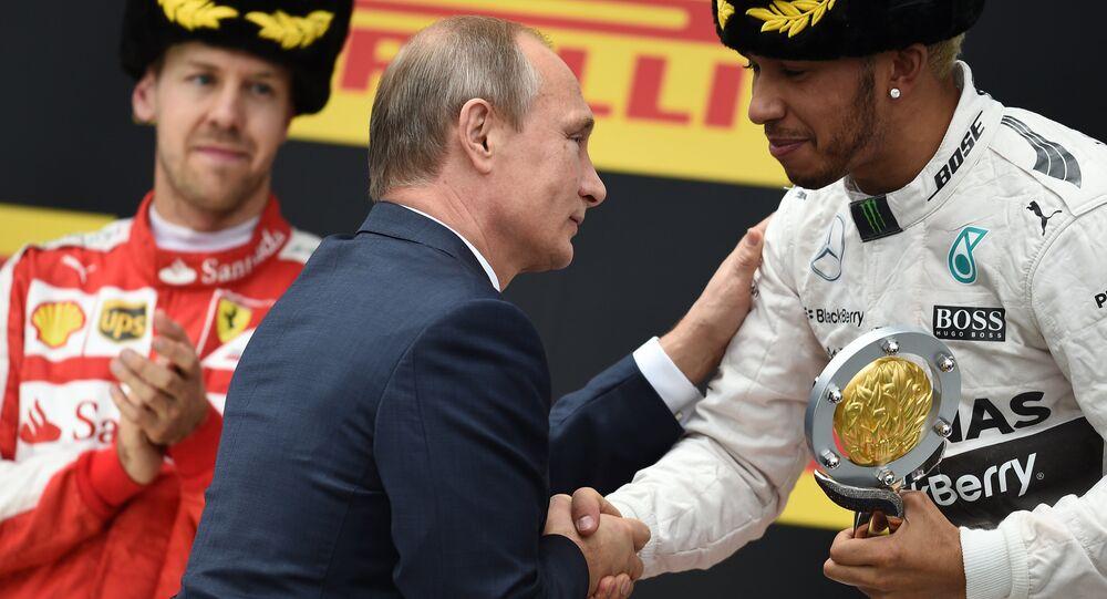 Vladimir Putin al gran premio di Sochi
