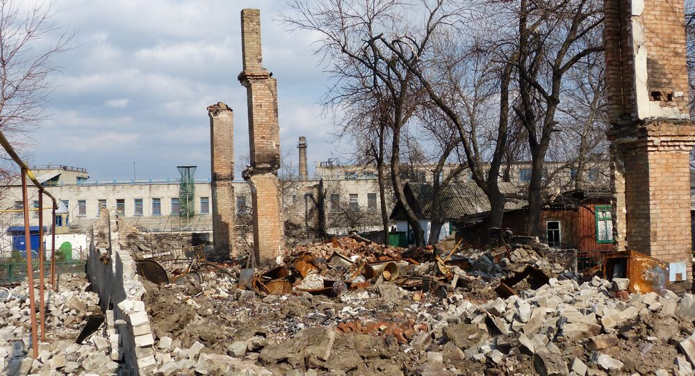 Distruzione nel Donbass (foto d'archivio)