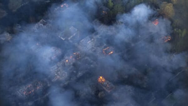 Incendio nel bosco in Ucraina - Sputnik Italia