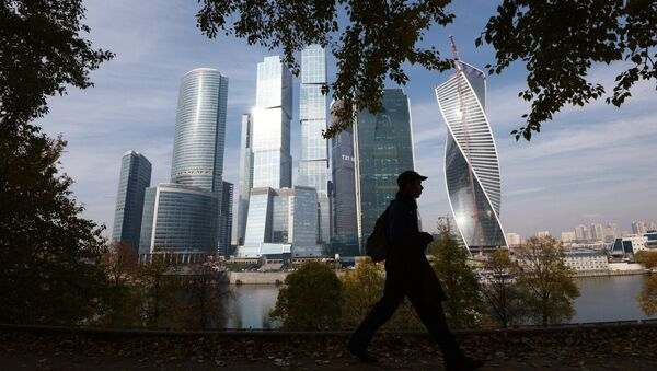 A passer-by near the Moscow International Business Center Moscow-City in Moscow - Sputnik Italia