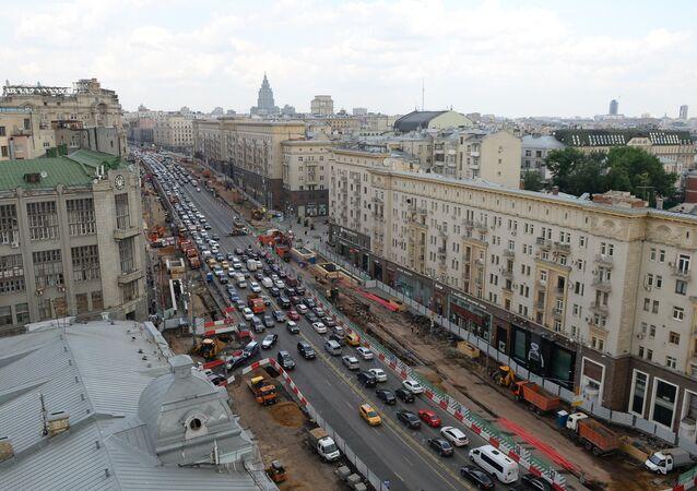 La via Tverskaya di Mosca