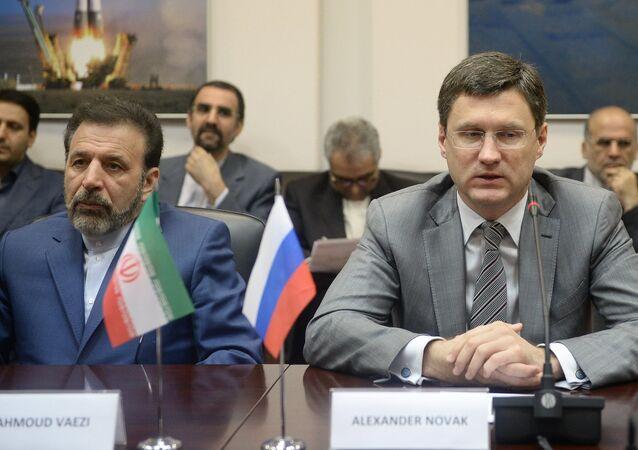 Alexander Novak e Mahmoud Vaezi