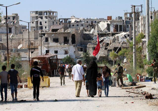 Strade di Aleppo presidiate dall'esercito siriano