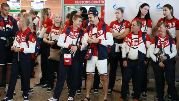Atleti russi partono per le Olimpiadi - Sputnik Italia