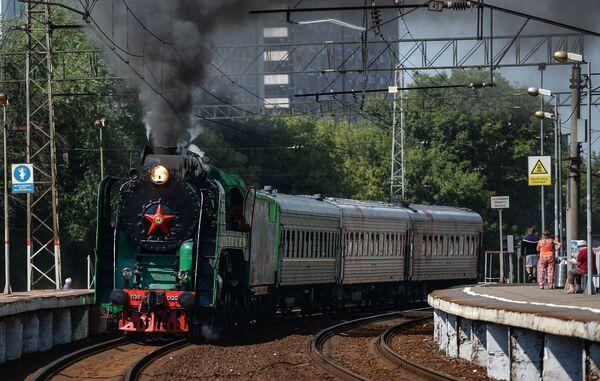 La sfilata delle locomotive d'epoca a Mosca - Sputnik Italia