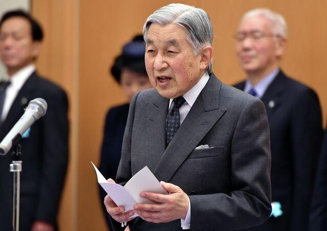 L'imperatore nipponico Akihito