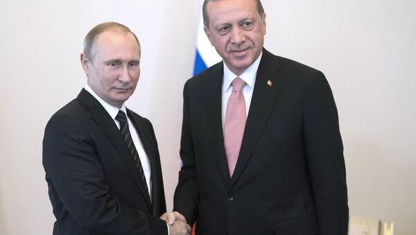 Incontro tra Vladimir Putin e Recep Tayyip Erdogan - Sputnik Italia
