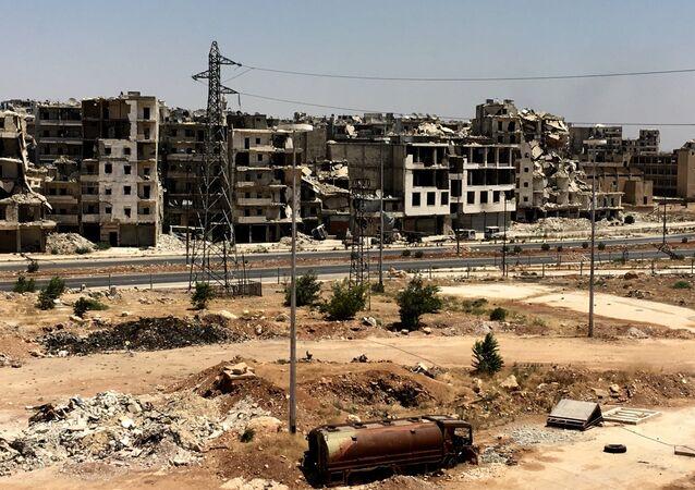 Macerie ad Aleppo