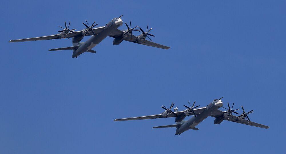 Bombardieri strategici russi Tu-95MS (foto d'archivio)