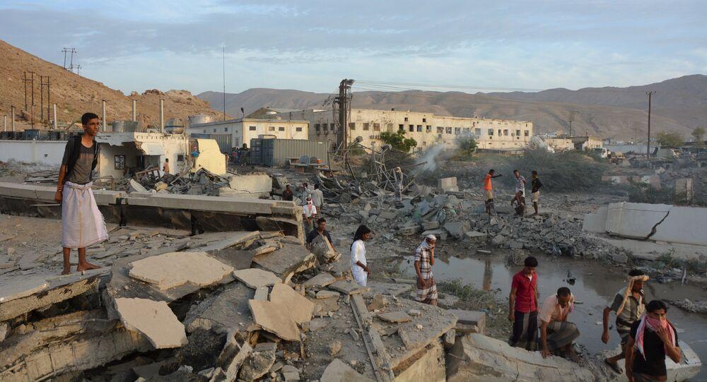 Dopo un bombardamento in Yemen