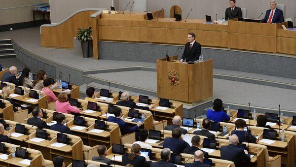 Una sessione della Duma Statale della Russia - Sputnik Italia