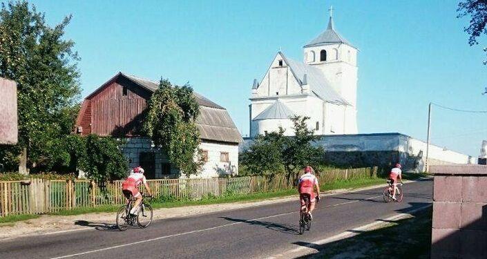 Ride to Moscow, un tratto di strada in Polonia