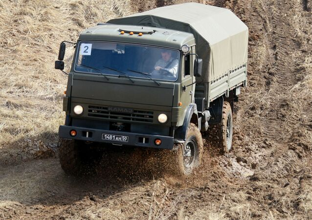 Camion militare russo (foto d'archivio)
