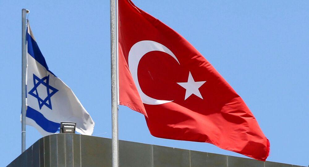 Bandiere della Turchia e Israele