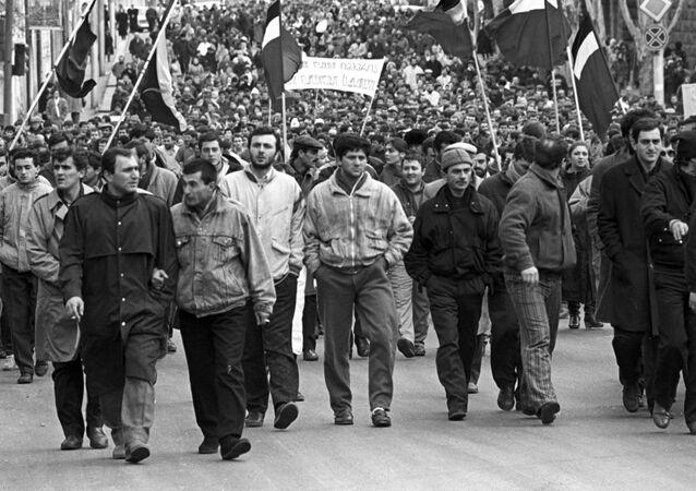 Manifestanti nell'URSS