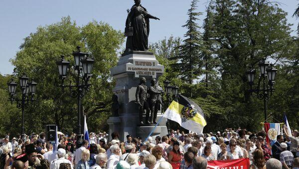 L'inaugurazione del monumento all'imperatrice Caterina II in Crimea - Sputnik Italia
