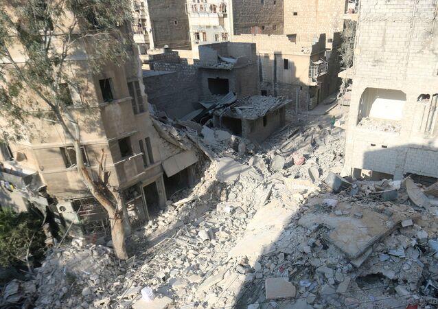 Aleppo distrutta dai combattimenti