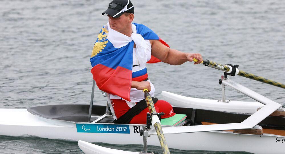 Atleta russo alle Paralimpiadi 2012 a Londra