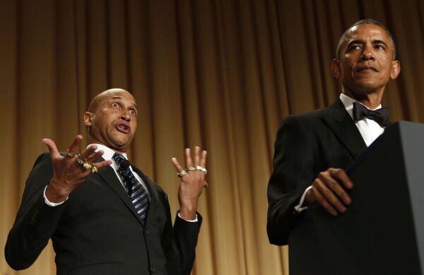 Barack Obama vicino all'attore Keegan-Michael Key - Sputnik Italia