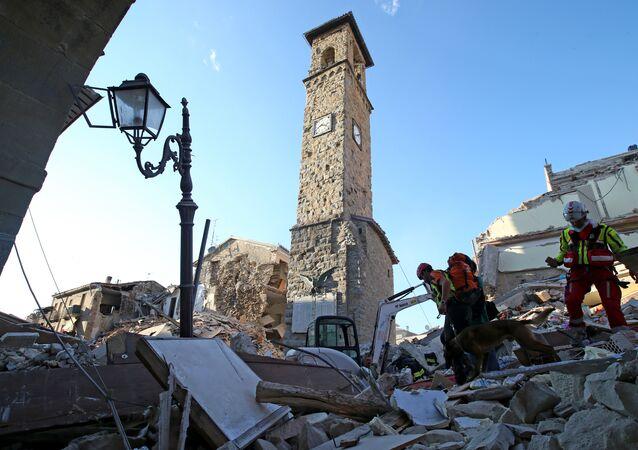 Conseguenza del terremoto in Italia