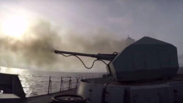 Esercitazioni della fregata Admiral Grigorevich - Sputnik Italia