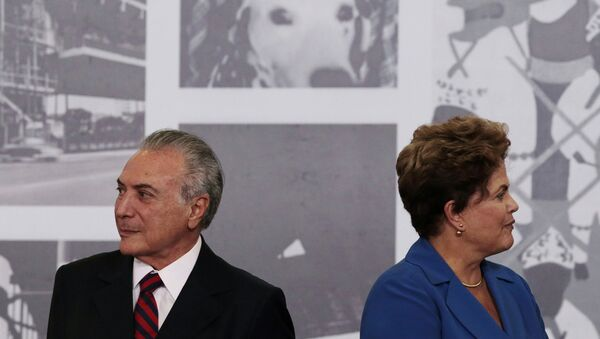 Dilma Rousseff el'allora vice presidente Michel Temer nel 2014 - Sputnik Italia