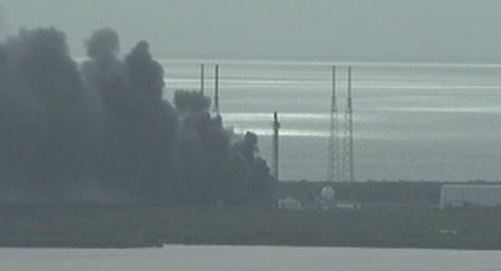 Fiamme a Cape Canaveral