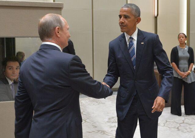 Vladimir Putin e Barack Obama al G20 di Hangzhou