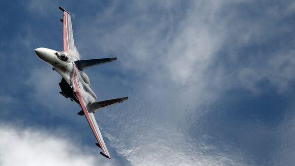 Il caccia multiruolo Su-27 al forum tecnico-militare Army-2016. - Sputnik Italia