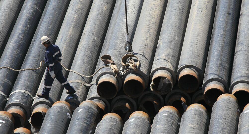 Costruzione gasdotto (foto d'archivio)