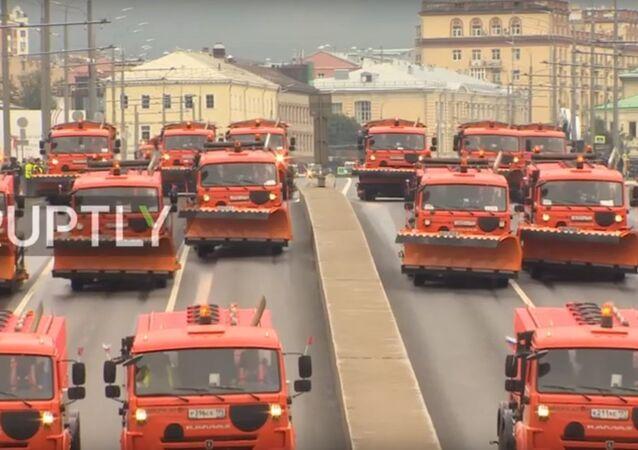 Parata dei veicoli comunali a Mosca