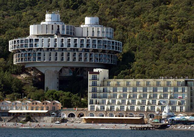 La casa di salute Curpati vicino al mar Nero, Crimea.
