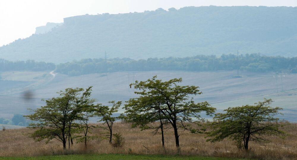 Nelle vicinanze  del villaggio Konstantinovka, Crimea.
