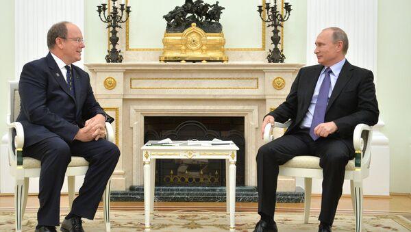 Incontro tra Vladimir Putin e il principe Alberto II di Monaco - Sputnik Italia
